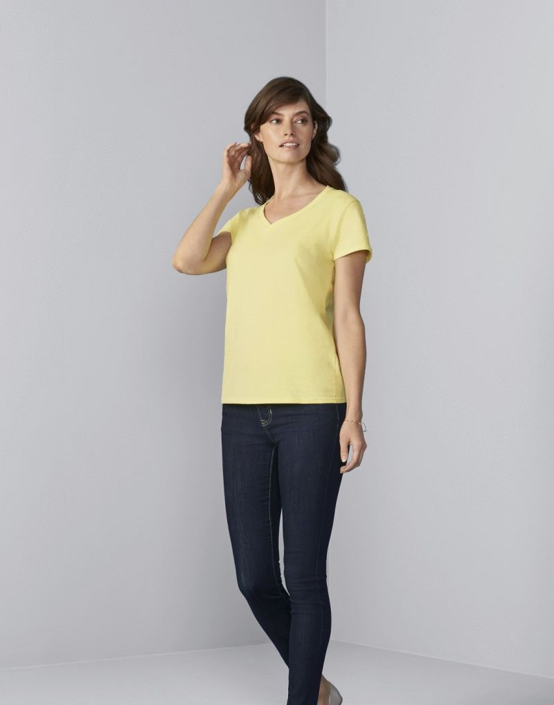 Klassic Premium Cotton Ladies V-neck T-shirt