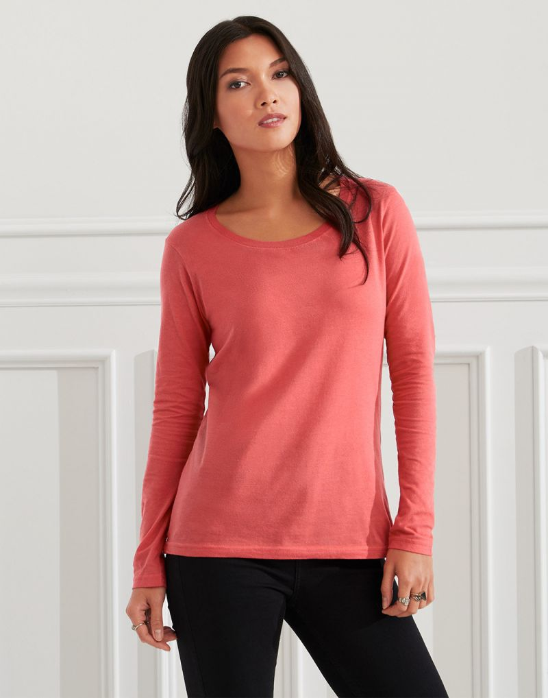 Klassic Ladies Featherweight Long Sleeve Scoop T-shirt