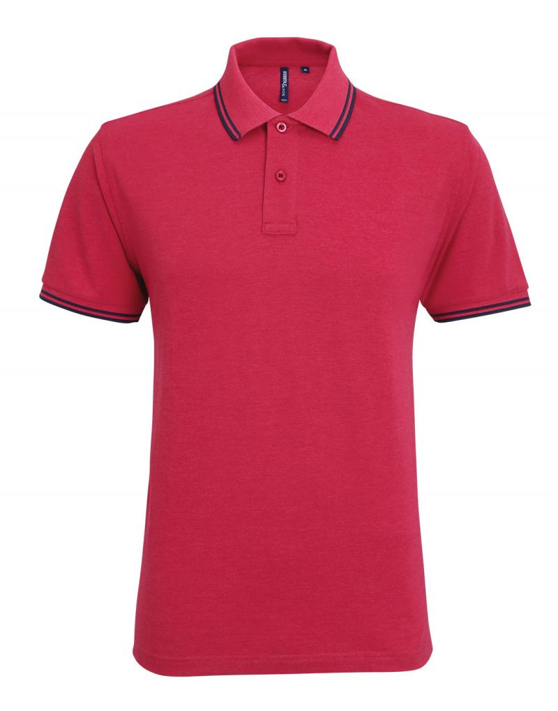 Klassic Mens Classic Fit Tipped Polo Shirt