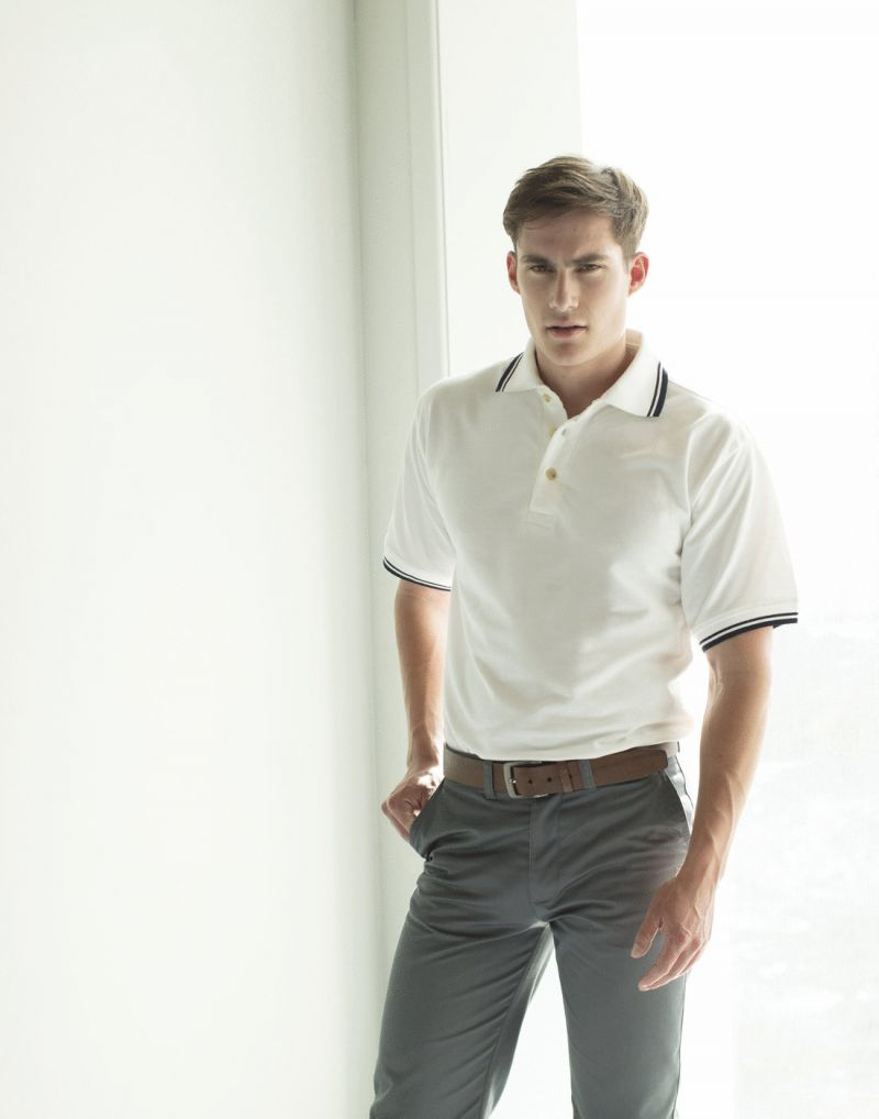 Klassic Double Tipped Pique Polo Shirt