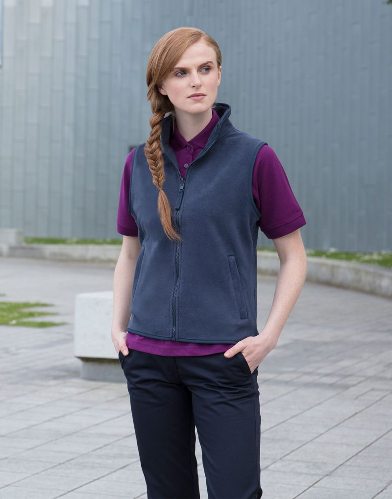 Klassic Ladies Sleeveless Microfleece Jacket