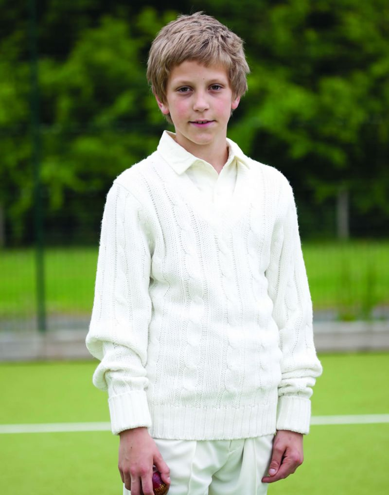 Klassic Kids Plain Cricket Sweater