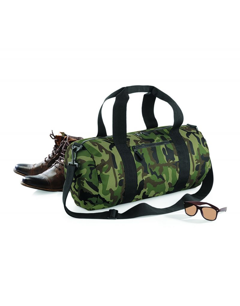Klassic Camo Barrel Bag