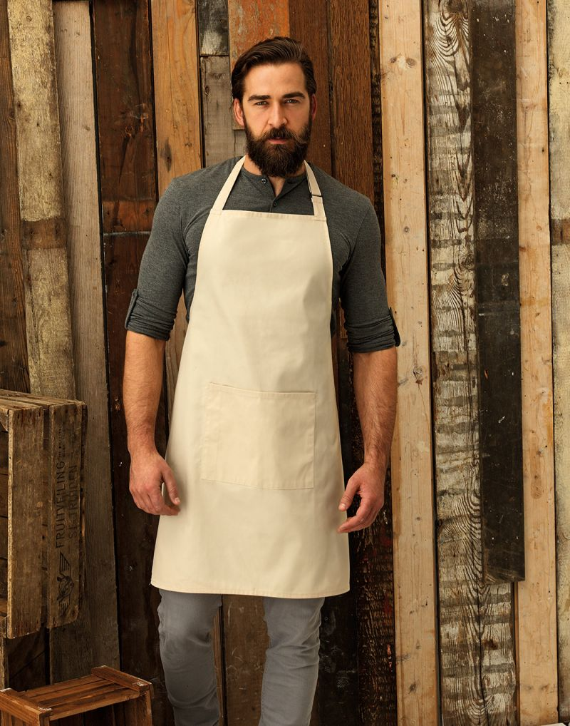 Klassic WORKWEAR Colours Bib Apron With Pocket