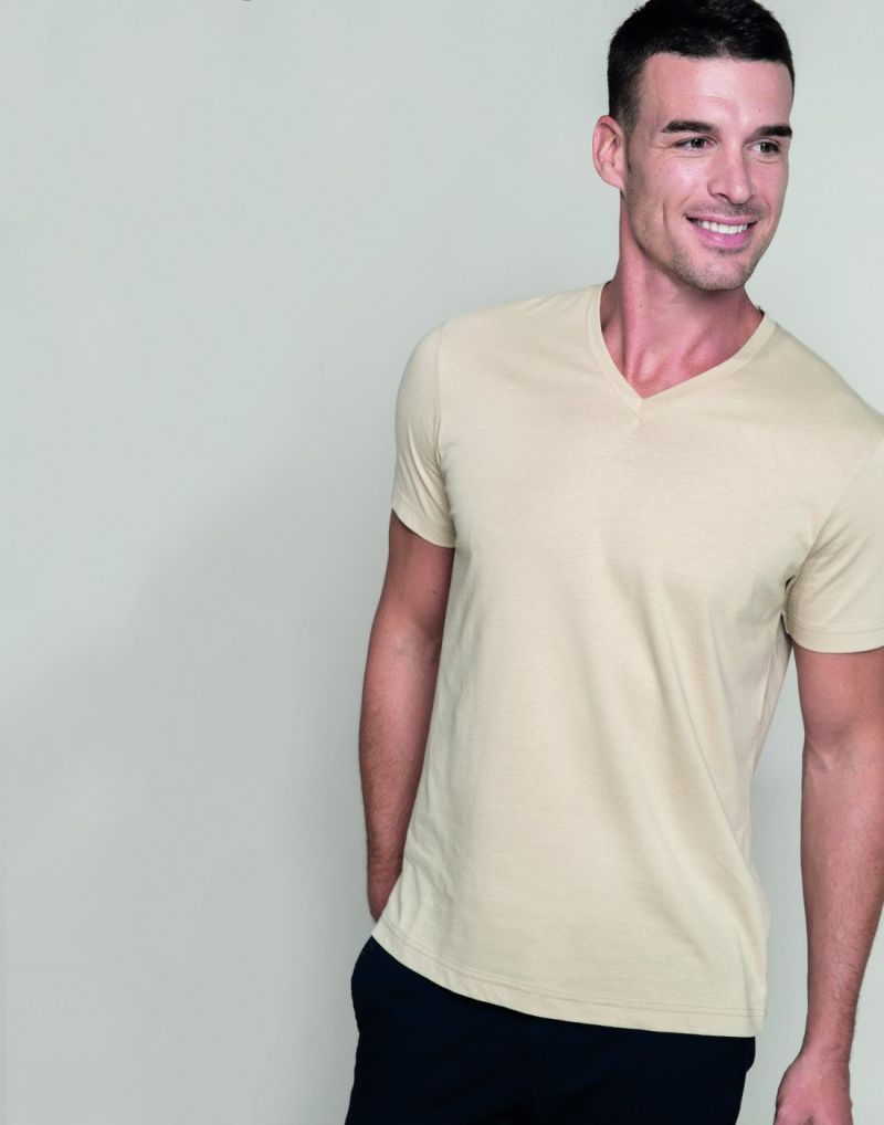 Klassic Mens Short Sleeve V-neck T-shirt