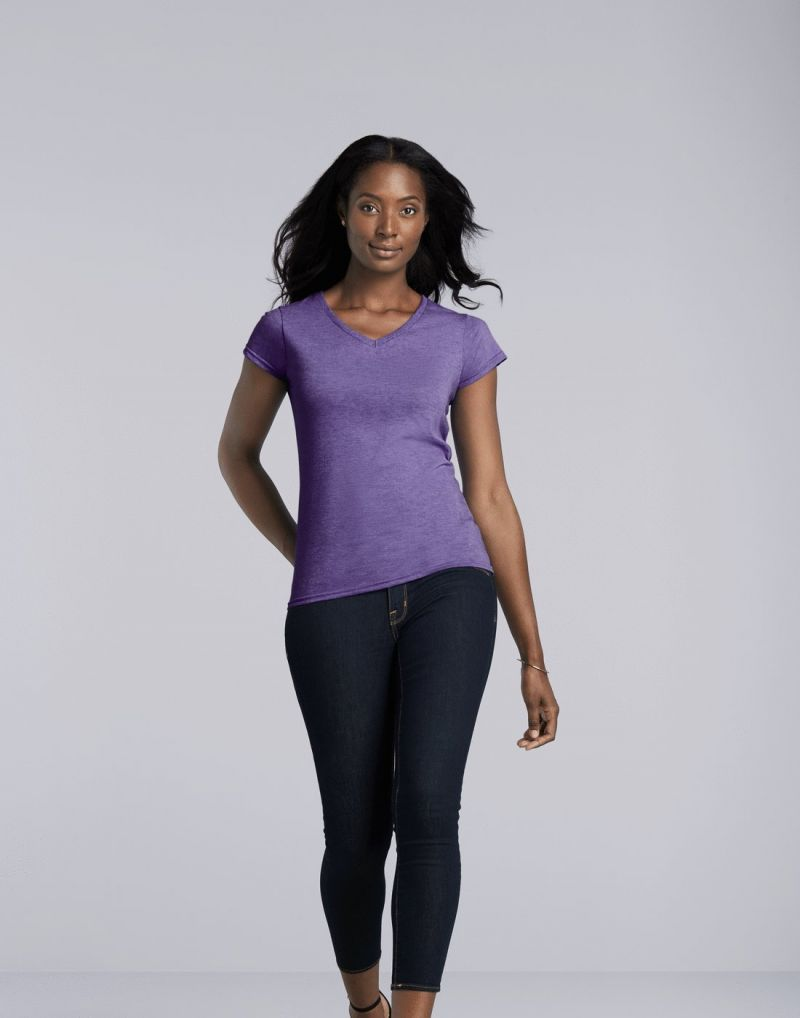 Klassic Ladies Softstyle  V-neck T-shirt