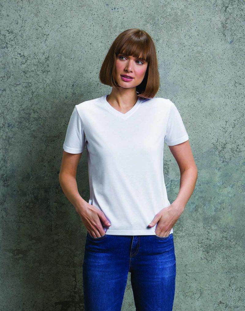 KlassicLadies Subli Plus V-neck T-shirt