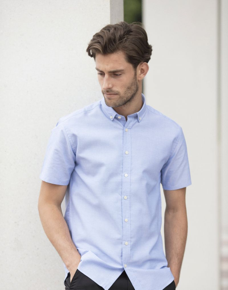 Klassic Modern Short Sleeve Regular Fit Oxford Shirt